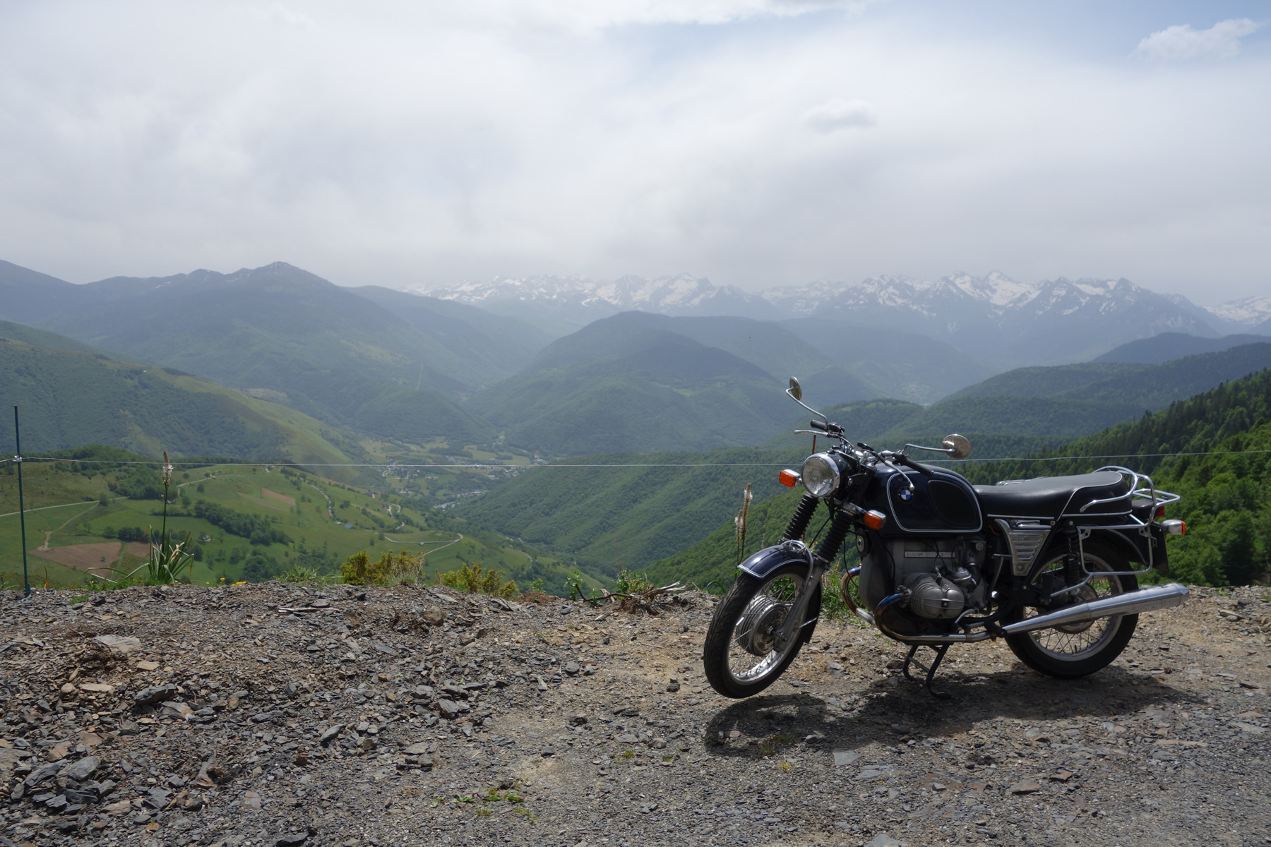 BMW R80/5 am Col d'Aspin