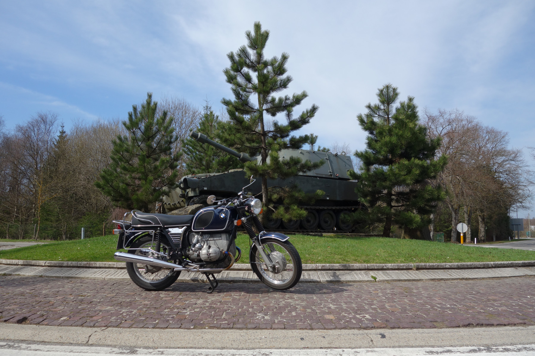 BMW R 80/5 am Camp Elsenborn